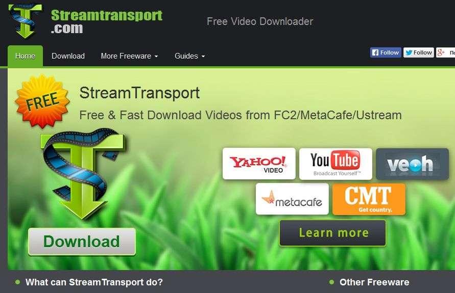 Stream Transport. Завантажити відео з Youtube і не тільки.