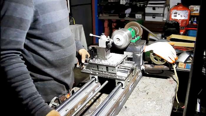 Рабочая конструкция самодельного токарного станка Самоделки