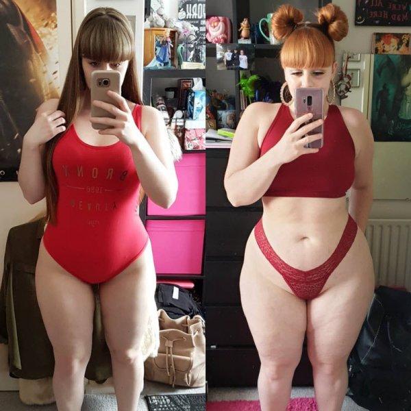 Девушку унижали из-за лишнего веса, но она набрала ещё 18 кг и стала моделью Всячина