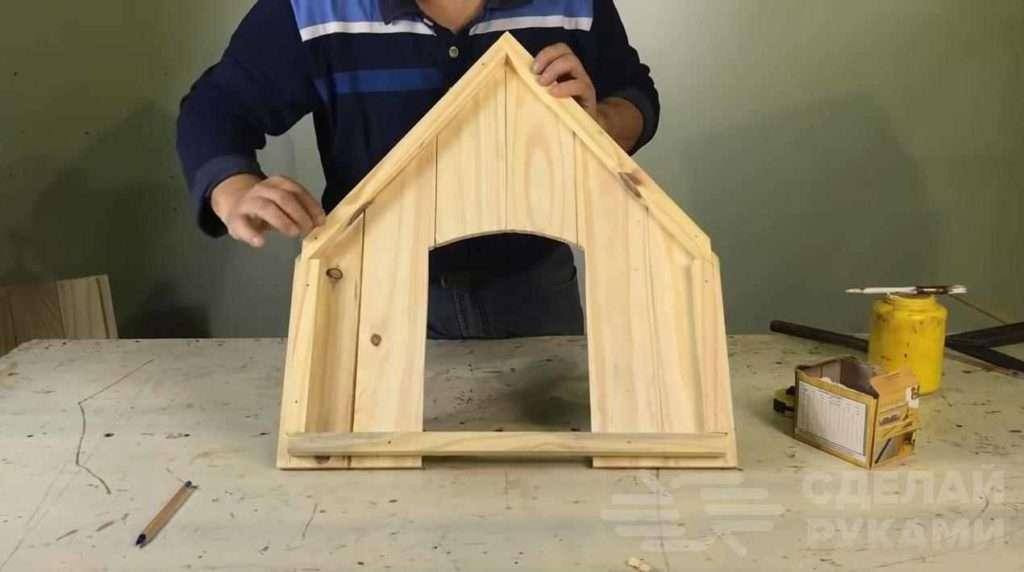 Классная будка для собаки из деревянной вагонки Самоделки