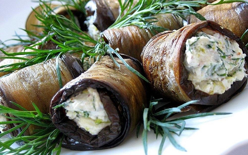 Рецепты рулетиков из баклажанов закуски,кулинария,овощные блюда,рецепты