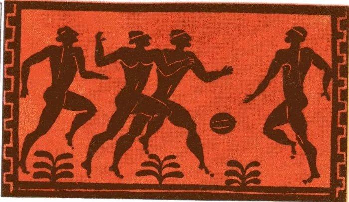 Матчи с жертвоприношениями и мяч, «зависший» в воздухе, или Как играли в футбол разные народы разных эпох интересное,история,мир,спорт,футбол