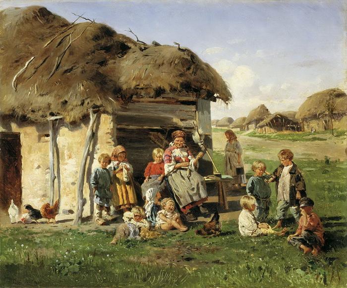 Как рождались и росли дети крепостных крестьян