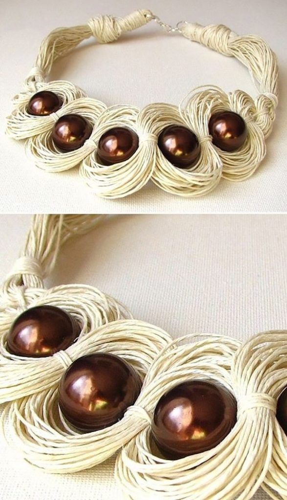 Бохо-украшения из обыкновенной льняной нити бохо,рукоделие,своими руками,украшения