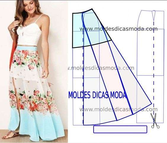 Еще одна подборка идей и выкроек летней юбки для тех, кто шьет одежда,своими руками,сделай сам,шитьё,юбка летняя