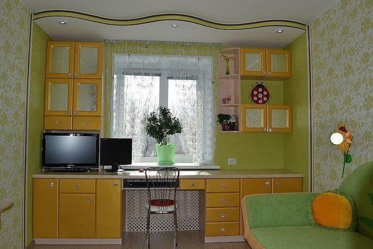 Шкафы вокруг окна — это не только красиво, но и очень практично интерьер,своими руками