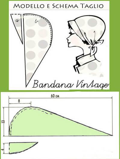 Летом пригодится. Как выкроить и сшить бандану бандана,женские хобби,рукоделие,своими руками,шитье