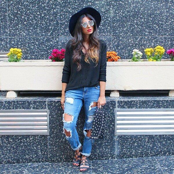 Вашему вниманию: джинсы- бойфренды. Они будут на пике моды 2019! Дубленки,мода,модный обзор,образ,тренды