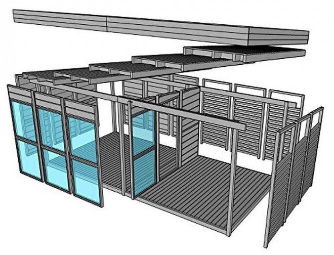На Amazon можно купить дом-конструктор, который возводится за 8 часов силами двух человек amazon,гаджеты,мир,технологии